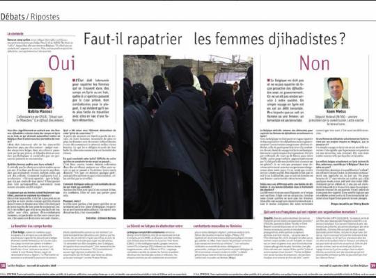 Koen Metsu Député fédéral (N-VA) – ancien président de la commission Lutte contre le terrorisme. La Belgique doit-elle entamer des démarches pour rapatrier les femmes de djihadistes actuellement en Syrie ? Non. La Belgique ne doit pas et ne va pas rapatri